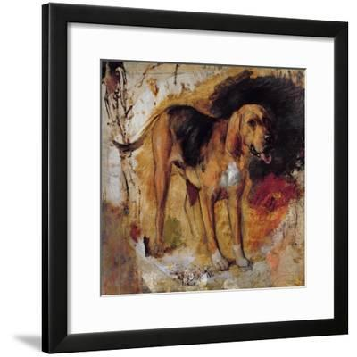 A Study of a Bloodhound, 1848-William Holman Hunt-Framed Giclee Print