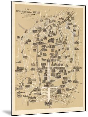 Map of Berlin, Published by Carl Glueck Verlag, Berlin, 1860-German School-Mounted Giclee Print