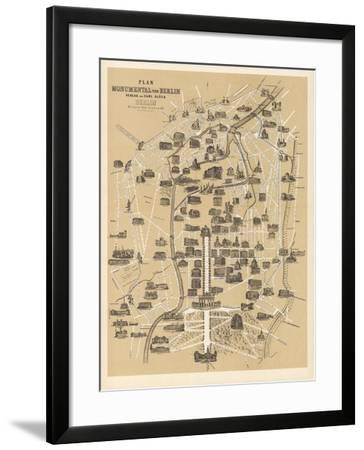 Map of Berlin, Published by Carl Glueck Verlag, Berlin, 1860-German School-Framed Giclee Print