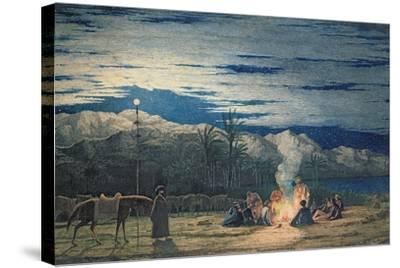 Artist's Halt in the Desert by Moonlight, C.1845-Richard Dadd-Stretched Canvas Print