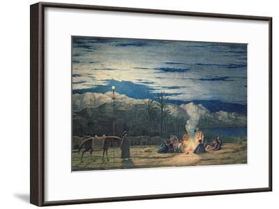 Artist's Halt in the Desert by Moonlight, C.1845-Richard Dadd-Framed Giclee Print