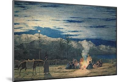 Artist's Halt in the Desert by Moonlight, C.1845-Richard Dadd-Mounted Giclee Print