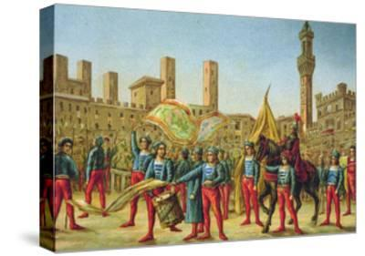 The Palio Di Siena--Stretched Canvas Print
