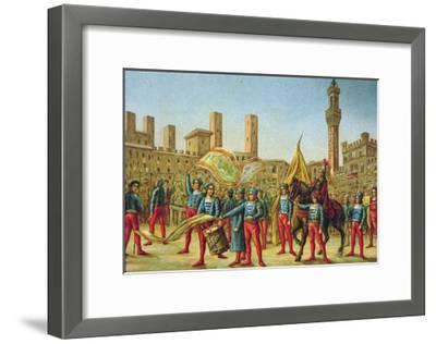 The Palio Di Siena--Framed Giclee Print