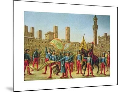 The Palio Di Siena--Mounted Giclee Print