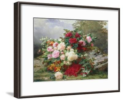 Autumn Flowers-Jean Baptiste Claude Robie-Framed Giclee Print