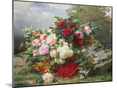 Autumn Flowers-Jean Baptiste Claude Robie-Mounted Giclee Print