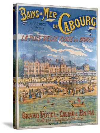 Cabourg Poster-Emile Levy-Stretched Canvas Print