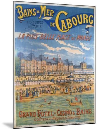 Cabourg Poster-Emile Levy-Mounted Giclee Print