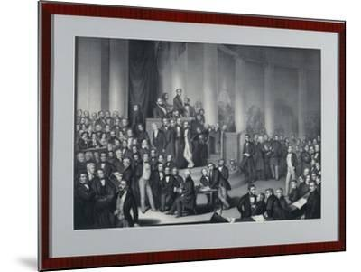 The National Assembly in Paulskirche, Frankfurt Am Main, Engraved by Eduard Meyer and Gerhard…-Paul Buerde-Mounted Giclee Print