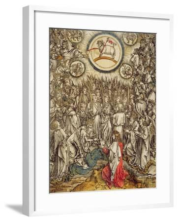 The Lamb of God Appears on Mount Sion, 1498-Albrecht D?rer-Framed Giclee Print