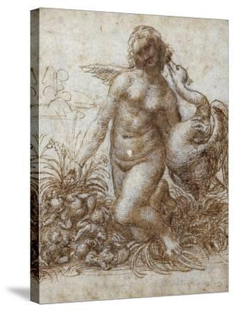Leda and the Swan-Leonardo da Vinci-Stretched Canvas Print
