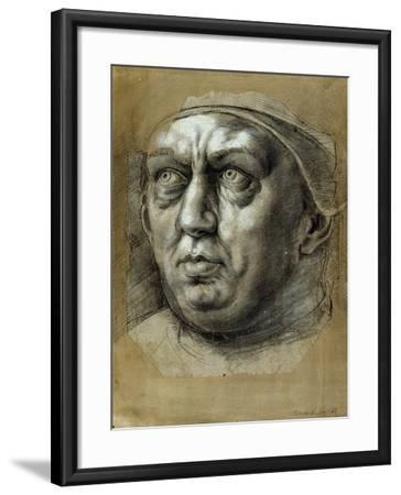 Head of Pope Leo X-Giulio Romano-Framed Giclee Print
