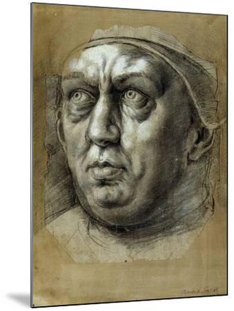 Head of Pope Leo X-Giulio Romano-Mounted Giclee Print