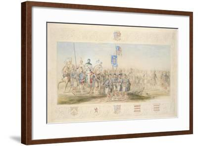 Baron Glenlyon, Knight of the Gael, 1839-James Henry Nixon-Framed Giclee Print