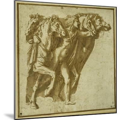 Dawn: Apollo with the Horses of the Sun-Giulio Romano-Mounted Giclee Print