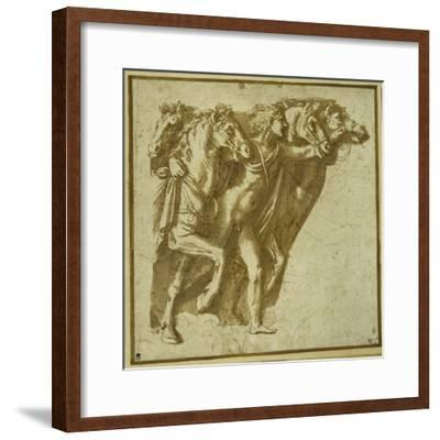 Dawn: Apollo with the Horses of the Sun-Giulio Romano-Framed Giclee Print