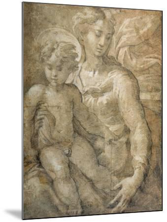 Virgin with the Child on Her Lap-Parmigianino-Mounted Giclee Print