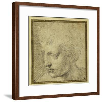 Head of a Boy, Nearly in Profile to the Left-Parmigianino-Framed Giclee Print