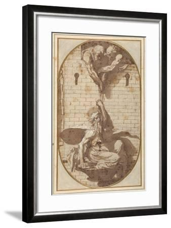 St. Paul 'Let Down by Night in a Basket' from the Walls of Damascus-Perino Del Vaga-Framed Giclee Print
