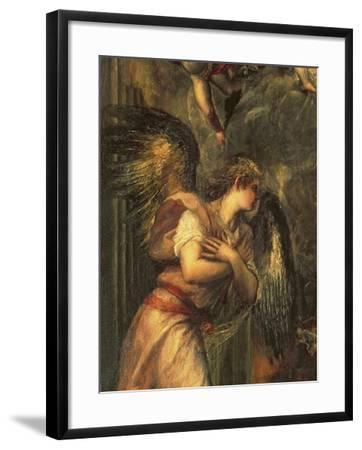 Annunciation (Detail)-Titian (Tiziano Vecelli)-Framed Giclee Print