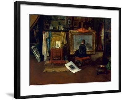The Inner Studio, Tenth Street, 1882-William Merritt Chase-Framed Giclee Print