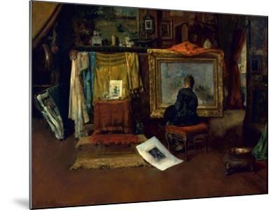 The Inner Studio, Tenth Street, 1882-William Merritt Chase-Mounted Giclee Print