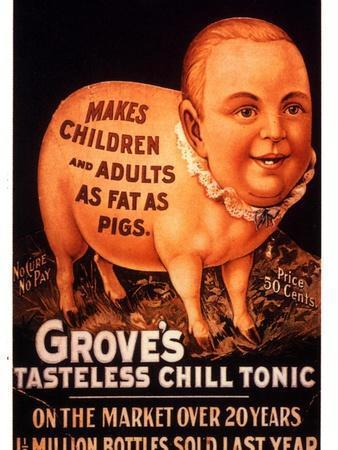 Advertisement for 'Grove's Tasteless Chill Tonic', 1890s--Framed Giclee Print