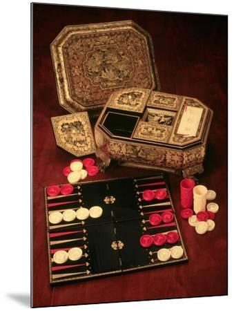 Antique Backgammon Set and Boards--Mounted Giclee Print
