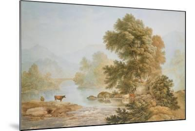 Cattle Watering at a River-John Glover-Mounted Giclee Print
