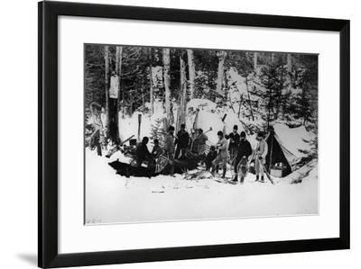 Prince Arthur's Moose Hunting Expedition in Canada, C.1870-English Photographer-Framed Photographic Print