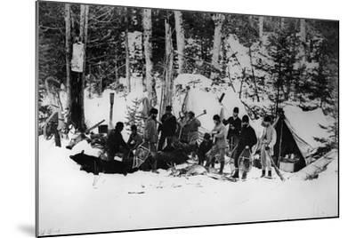 Prince Arthur's Moose Hunting Expedition in Canada, C.1870-English Photographer-Mounted Photographic Print