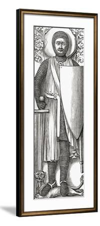 Effigy of William Marshall from His Tomb in Temple Church, London, from 'A Short History of the…--Framed Giclee Print