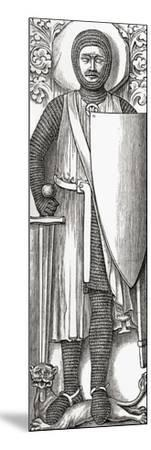 Effigy of William Marshall from His Tomb in Temple Church, London, from 'A Short History of the…--Mounted Giclee Print