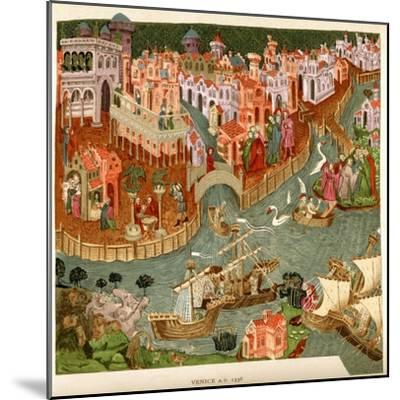 Venice, 1338, after a Manuscript in the Bodleian Library, from 'A Short History of the English…--Mounted Giclee Print