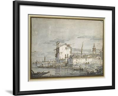 An Island in the Lagoon-Canaletto-Framed Giclee Print