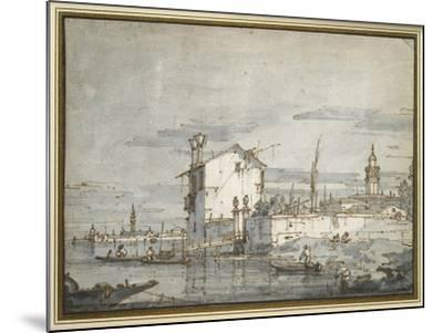 An Island in the Lagoon-Canaletto-Mounted Giclee Print