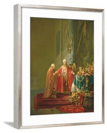 Croesus Showing His Riches to Solon-Willem de Poorter-Framed Giclee Print