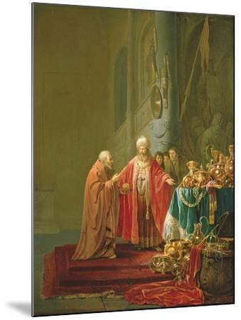 Croesus Showing His Riches to Solon-Willem de Poorter-Mounted Giclee Print