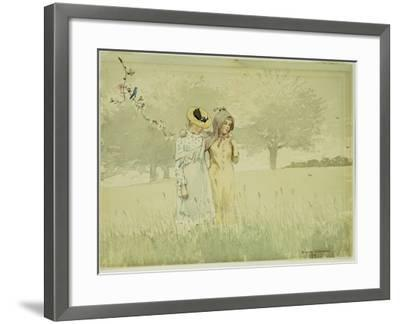 Girls Strolling in an Orchard, 1879-Winslow Homer-Framed Giclee Print