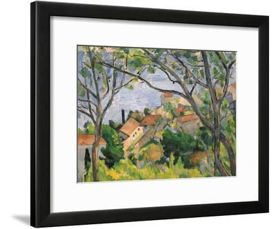 View of L'Estaque Through the Trees, 1879-Paul C?zanne-Framed Giclee Print