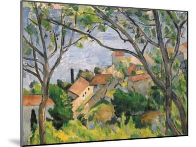 View of L'Estaque Through the Trees, 1879-Paul C?zanne-Mounted Giclee Print