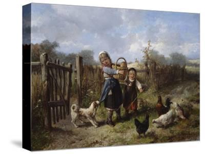 An Arbitary Dog-Jan Mari Henri Ten Kate-Stretched Canvas Print