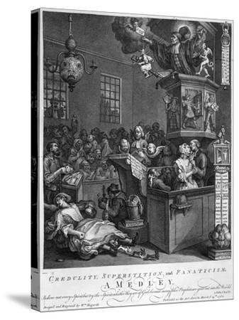 Credulity, Superstition and Fanaticism, 1762-William Hogarth-Stretched Canvas Print