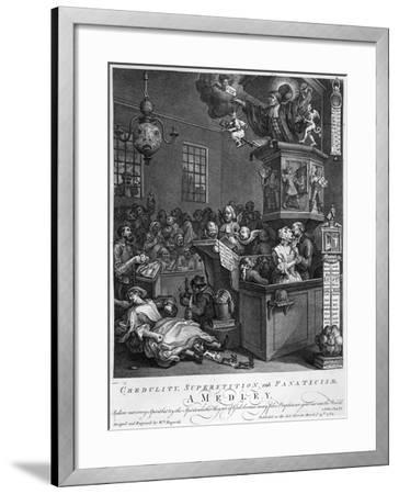 Credulity, Superstition and Fanaticism, 1762-William Hogarth-Framed Giclee Print