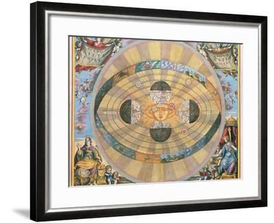 Scenographia: Systematis Copernicani Astrological Chart (C.1543) Devised by Nicolaus Copernicus…-Andreas Cellarius-Framed Giclee Print