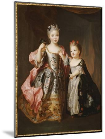 Portrait of Two Young Girls, Said to Be Adelaide and Victoire, Daughters of Louis Xv-Alexis Simon Belle-Mounted Giclee Print