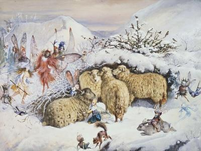 Fairies in the Snow-John Anster Fitzgerald-Framed Giclee Print