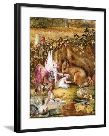 The Wounded Squirrel-John Anster Fitzgerald-Framed Giclee Print
