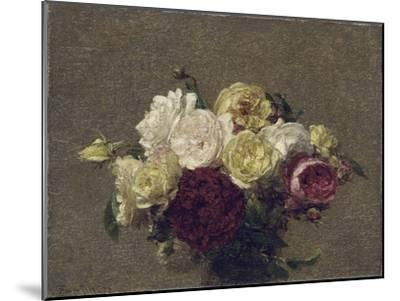 Bouquet of Roses, 1879-Henri Fantin-Latour-Mounted Giclee Print